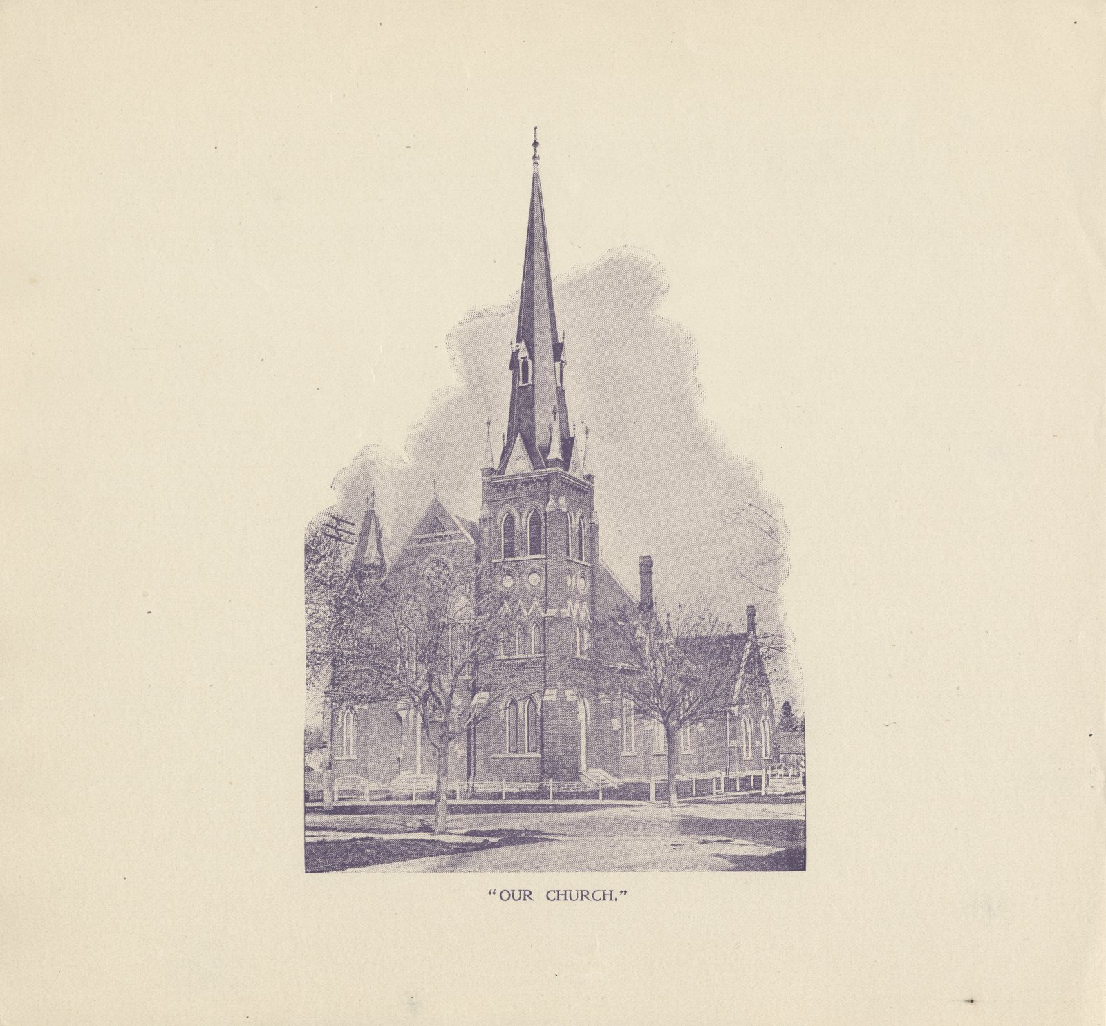 Knox Presbyterian Church, Oakville: engraving.