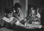 Miss Helen Goggin and nursery class children, Knox Presbyterian Church, Oakville.