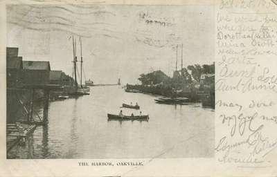 The harbor, Oakville, 1906?