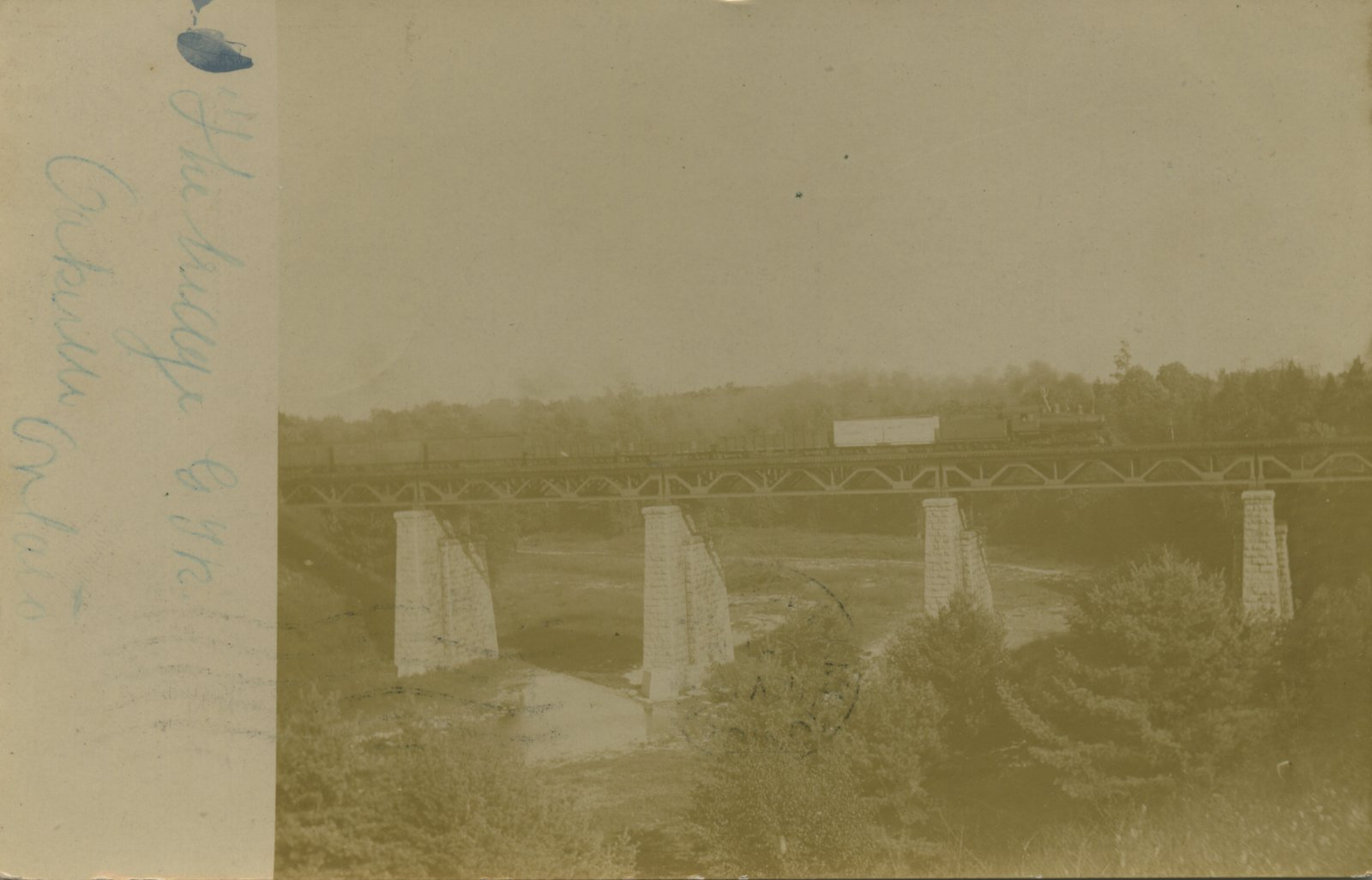 The bridge, Grand Trunk Railway, Oakville, Ont.