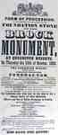 Foundation Stone of the Brock Monument- October 13, 1853