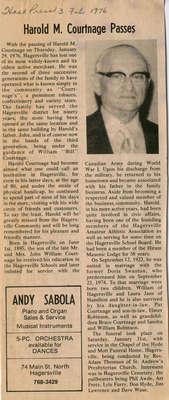 Harold M. Courtnage Passes