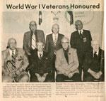 World War I Veteran Honoured