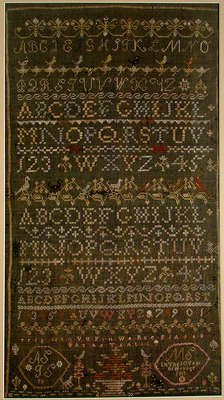 Margaret Stewart Sewing Sampler, 1811