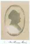 Silhouette of Mrs. Thomas Powis