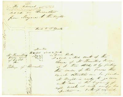 Diagram Explaining Where Sir Isaac Brock fell in Queenston