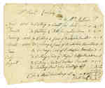 Bill of Account from Ezekiel Cudney to Mrs. Mathews- 1811