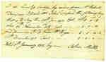 Affidavit of Payment between John Mills, by order from Mr. Robert Tompson, to John Axford