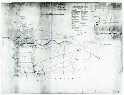 """""""Plan of Part of the Niagara Frontier Showing the Communications from Thence to the 15 Mile Creek July 1814"""""""