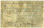 Province of Upper Canada Two Dollar Army Bill- 1814