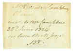 Note Concerning a Letter Written to Mrs. Elizabeth Campbell- June 22, 1824
