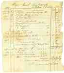 Ledger Page for Debt Owed by Major Jacob TenBroeck, 4th Regiment of the Lincoln Militia- 1812-13