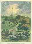 Brock's Monument at Queenston Heights Engraving- 1841