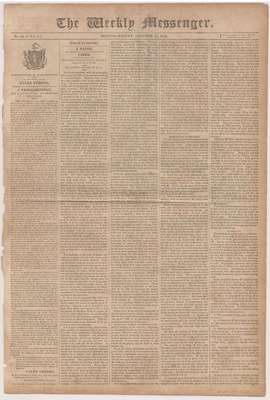 The Weekly Messenger Newspaper- October 15, 1813