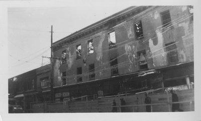 LH2814 Bassett Block Fire, view of King Street side