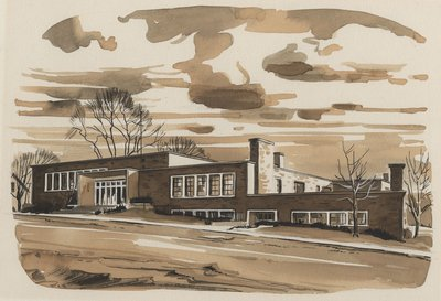 McLaughlin Library Water Colour Painting