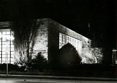 McLaughlin Library at Night