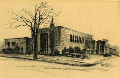 McLaughlin Library Sketch