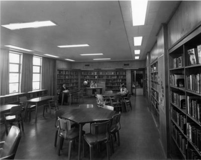 LH2969 Oshawa Public Libraries, McLaughlin Branch, 1958 - Youth Reading Room
