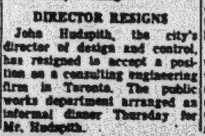 Director resigns (John Hudspith)
