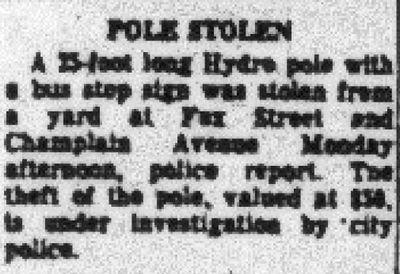 Pole stolen