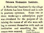 Mechanics Institute established