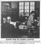 Carnegie Library Reading Room has cramped quarters