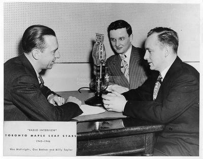 "LH3177 ""Radio Interview"" - Toronto Maple Leaf Stars - Wes McKnight, Gus Bodnar and Billy Taylor"
