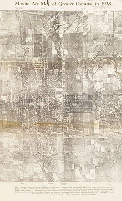 LHM003 Mosaic Air Map of Greater Oshawa in 1928