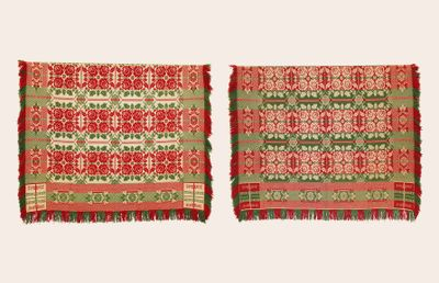 Graf Coverlet - Double Rose Pattern