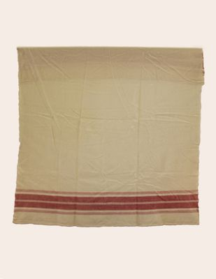 Graf Blanket - Cream with Pink Stripes