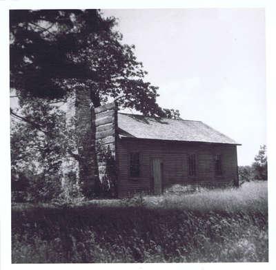 Lt. David Morgan's Cabin Photograph
