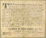 Proclamation By Lt. Col.  Jas. P. Preston of the Invading American Army