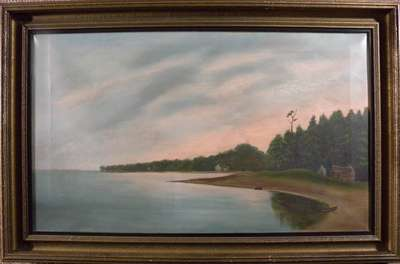 Oil Painting of Gravelly Bay and Sugarloaf Hill in Port Colborne