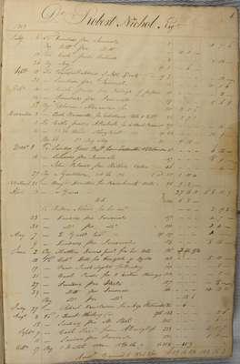 James Macklem Ledger- 1809 to 1816