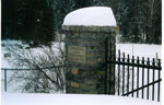 Sign at the Gate of the Rosseau-Humphrey Union Cemetery - Winter 2004 - CE0001