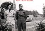 "Bissonette, Francis ""Web"" Aubrey Joseph (left) and Bissonette, Duncan Charles Peter (right)- 1940s - Vets WW II - RP0065"