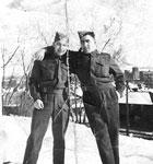 Earnshaw, Kenny (left) & Earnshaw, Herman (right) - 1940s - Vets WW II - RP0080