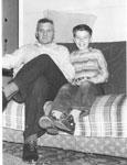 Pepper, Robin - 1956 - Vet WW I - with son Allan - RP0126