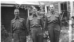 Beley, Lloyd George (right) with Charles Wood and Edgar Wood - 1940s - Vets WW11 - RP0063