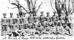 Veterans - WW I - Group from Rosseau - Crowder, Roderick Scheels (4th from left standing) - 1916 - Vet WW 1 - RP0152