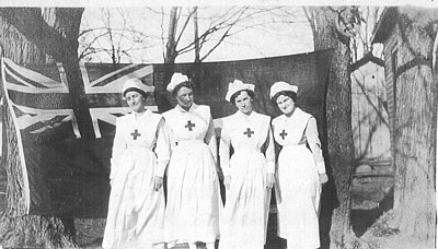 "Ditchburn, M. Christabel; Coate, May; Wilkinson, Gertude ""Gertie"" E.; Ashdown, Adele M. - Redcross ladies - RP0365"