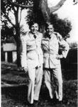 "Morden, Edmond ""Ed"" Albert (on right) with a buddy - 1940s - Vet WW II -  RP0120"