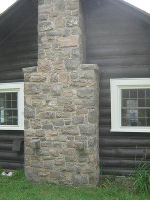 Stonemasonry - #1967 Bright Street - Rosseau Lake College - Log cabin - RI0149