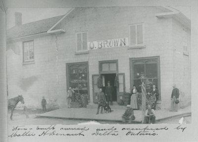 Omer Brown Store in Delta c. 1900
