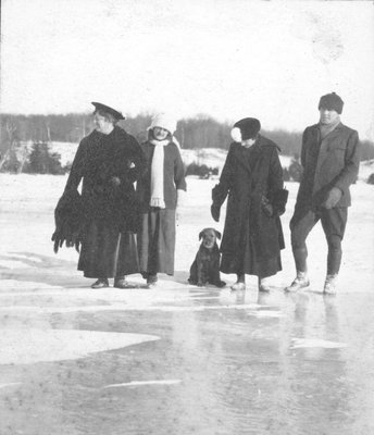 Winter activities on Indian Lake