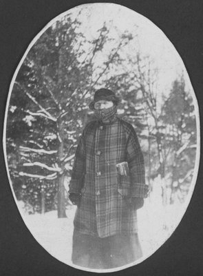 Woman bundled up in winter