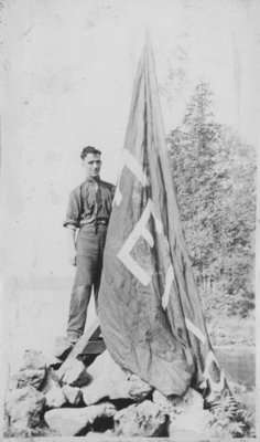 Soldier with Fettercairn banner