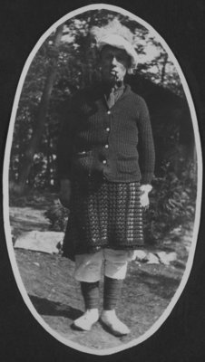 Soldier dressed in costume at Fettercairn