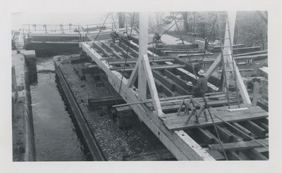 Rideau Canal Carpenters at Work at Jones Falls